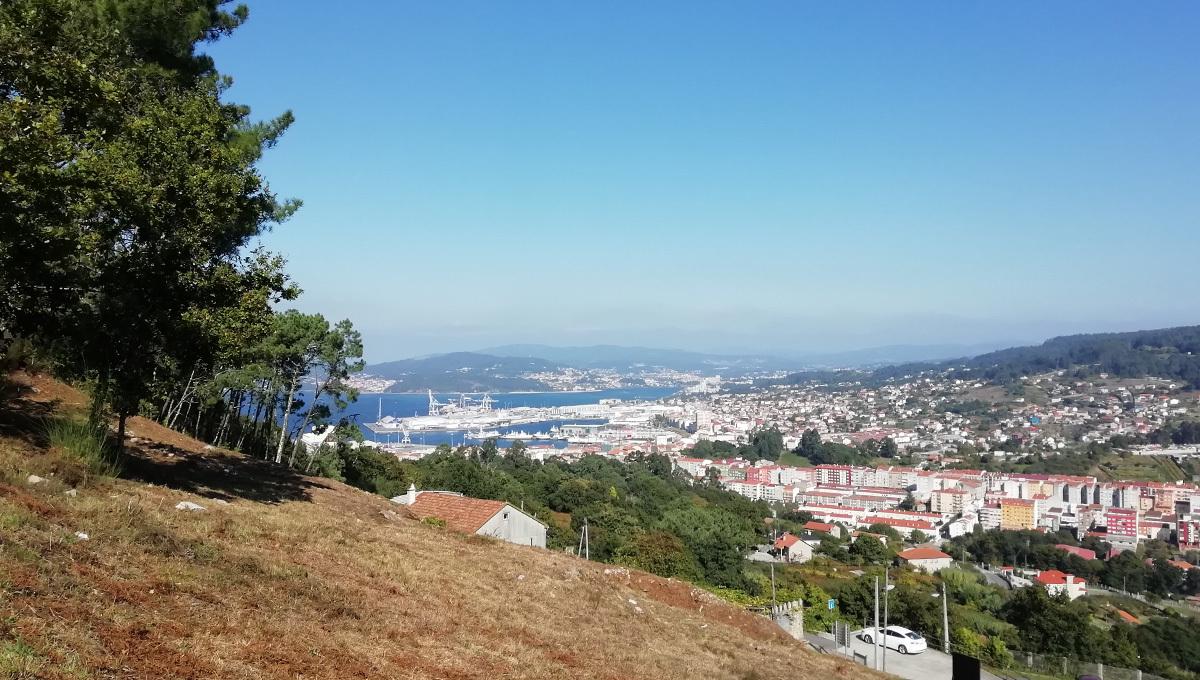Vistas desde el Castro de A Subidá Marín senderismo