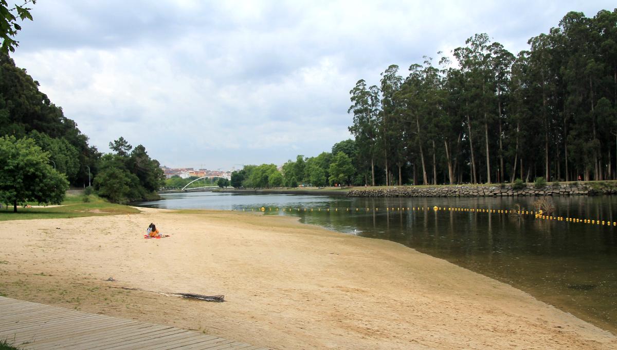 Praia do Río Lérez