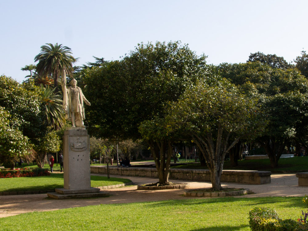 Escultura Cristobal Colón Pontevedra